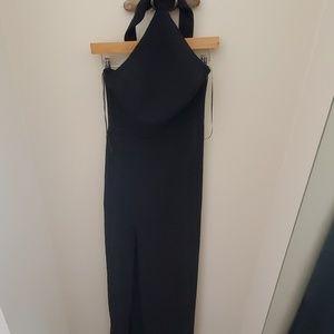 Amanda uprichard queen gown maxi dress black